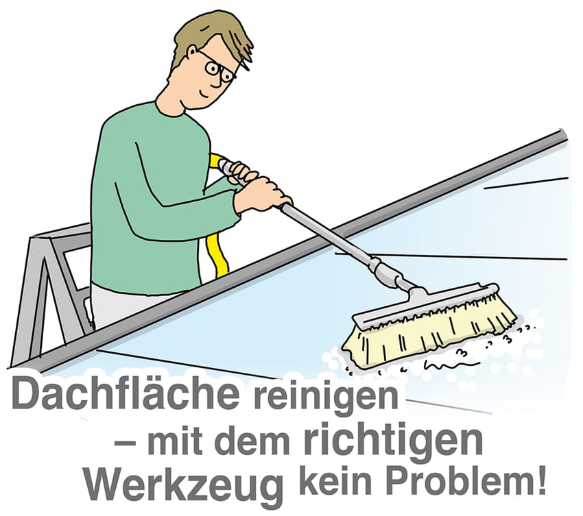 Dachflächen reinigen: Mit dem richtigen Werkzeug kein Problem