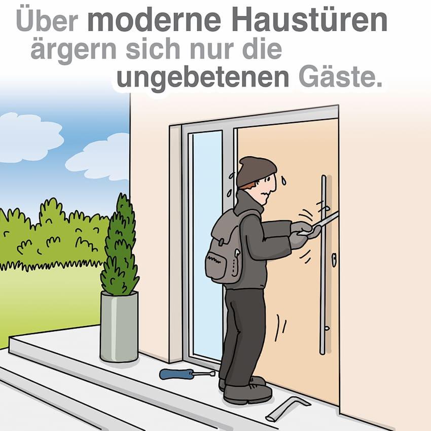 Moderne Haustüren: Wirksam gegen Einbrecher