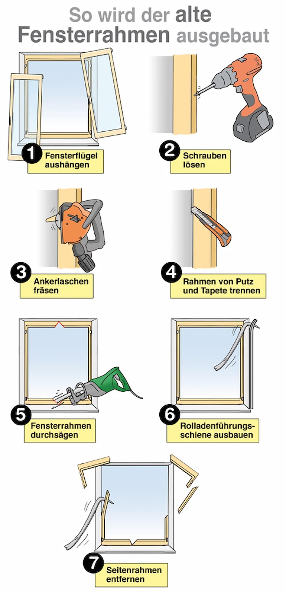 Fenster ausbauen: Schritt für Schritt