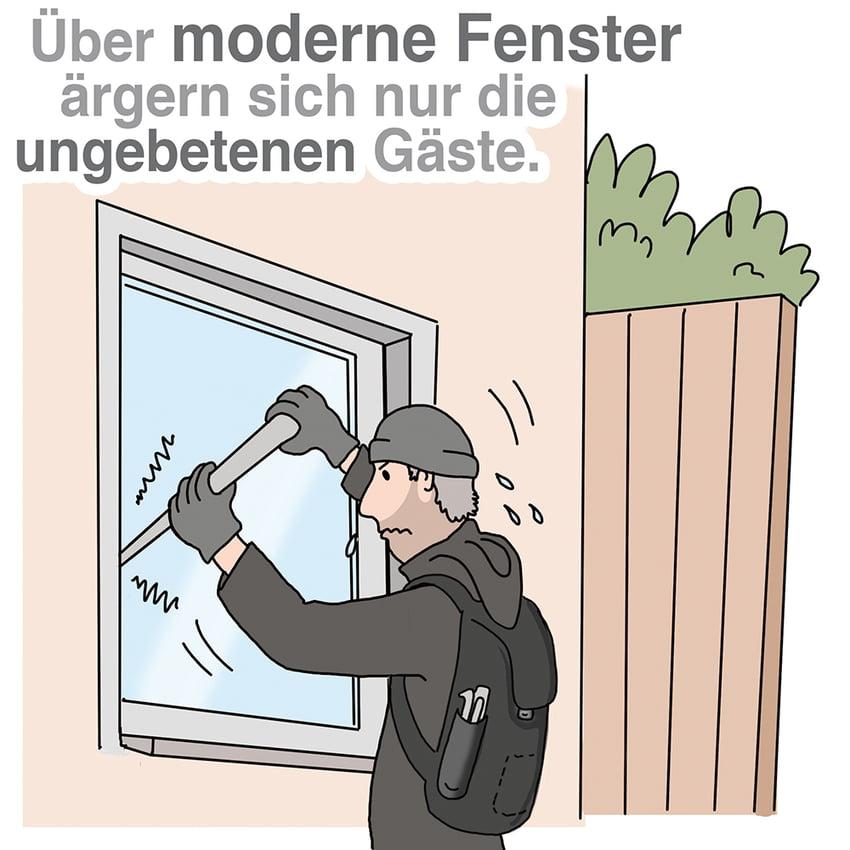 Moderne Fenster: Auf guten Einbruchschutz achten
