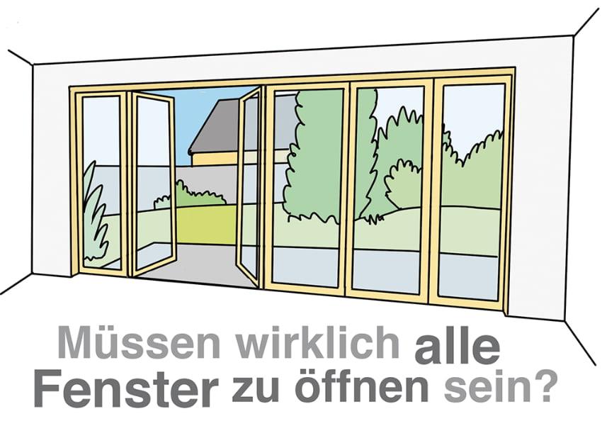 Müssen wirklich alle Fenster geöffnet werden können?