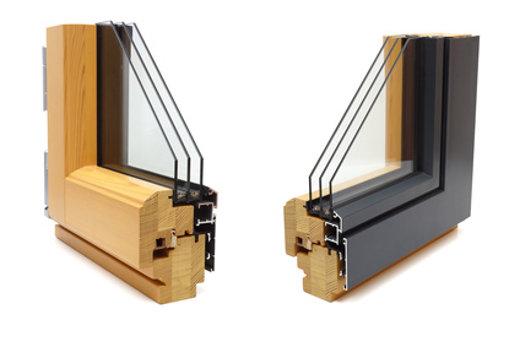 Fenster mit Aluminium-Holz-Profil © Bacho Foto, fotolia.com