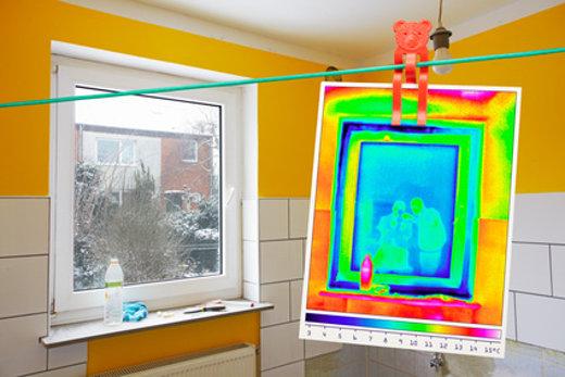 Fenster Thermografie © Ingo Bartussek, fotolia.com