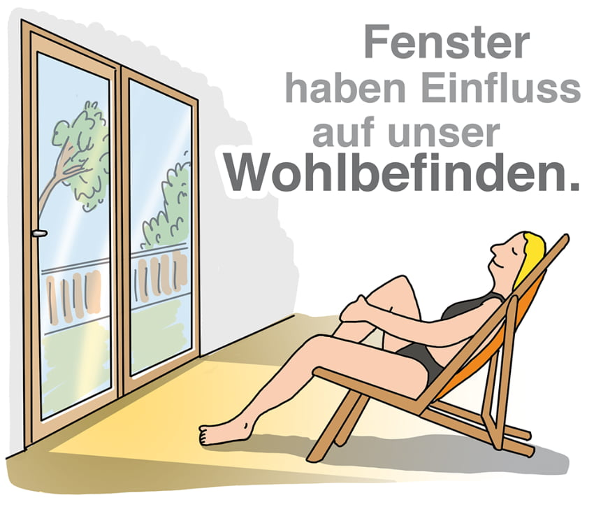 Fenster haben Einfluss auf unser Wohlbefinden