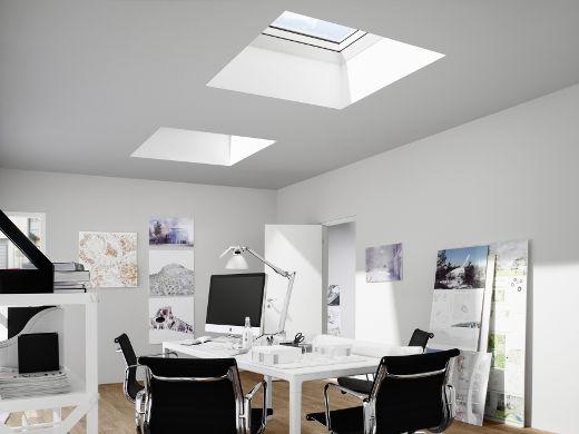 Flachdach Fenster Innenansicht © Velux Deutschland GmbH