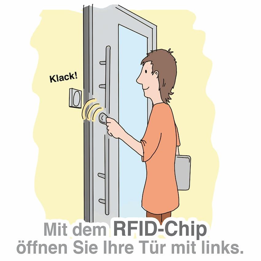 Haustür öffnen mit dem RFID-Chip