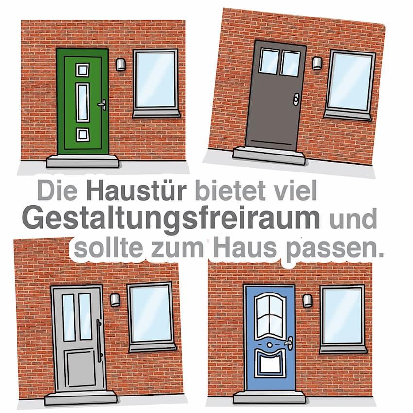 Haustür Design: Viele Möglichkeiten stehen offen