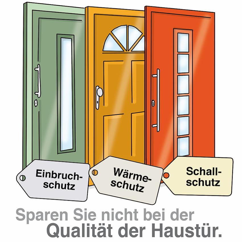 Sparen Sie nicht bei der Qualität der Haustür