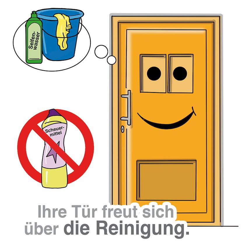 Die Haustüre regelmäßig reinigen