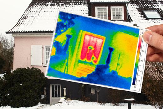 Haustür Thermografie © Ingo Bartussek, fotolia.com