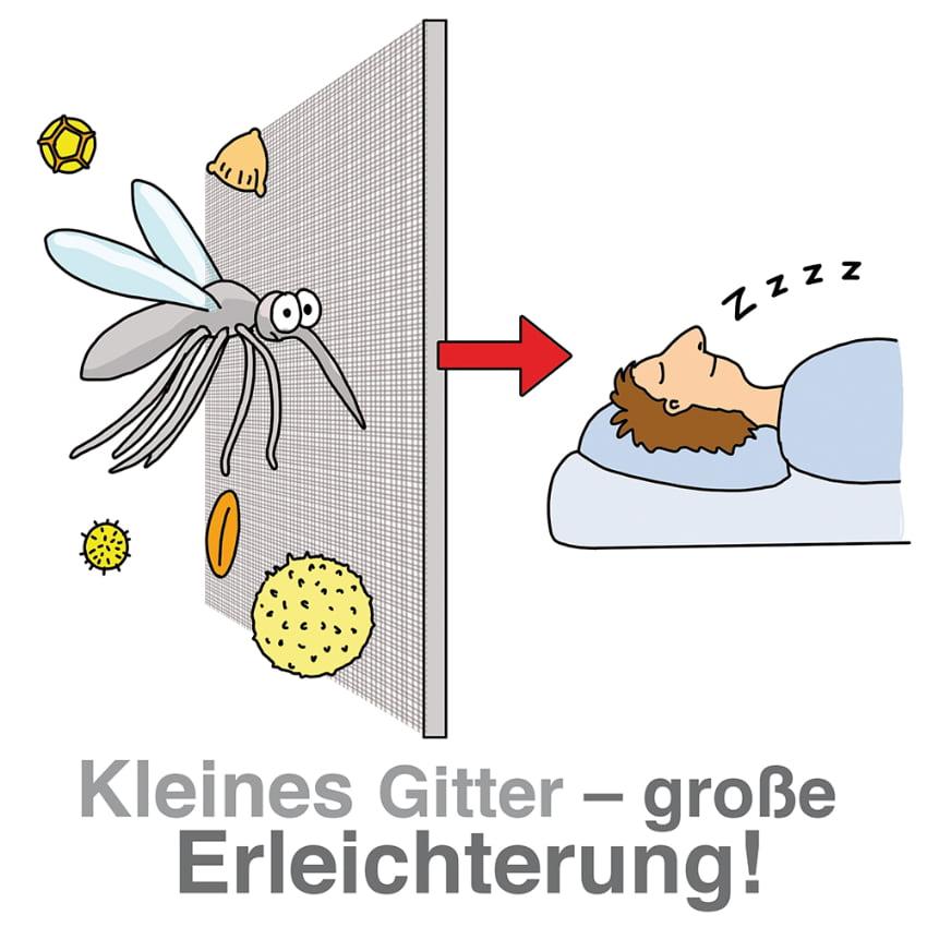Müssen draußen bleiben: Insekten