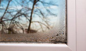 Kondenswasser an Fenstern
