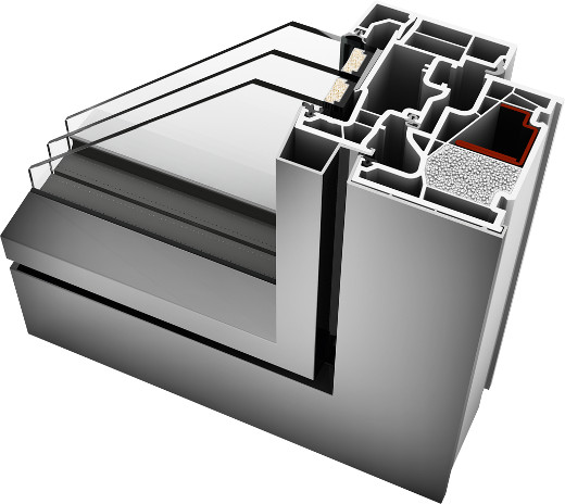 Kunstoff-Fenster KF410 mit Aluminium Schale © Internorm