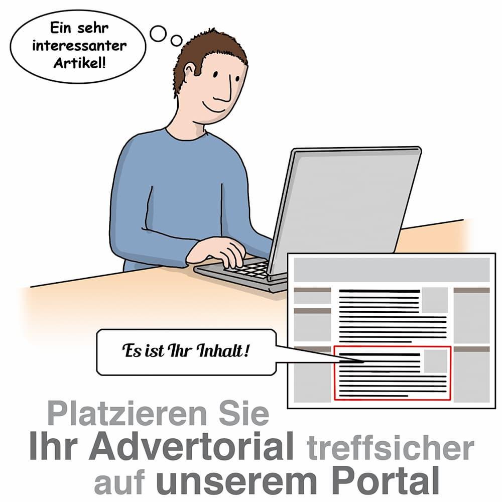 Plazieren Sie ein redaktionelles Advertorial auf unserem Portal und stellen Sie Ihre Produkte vor