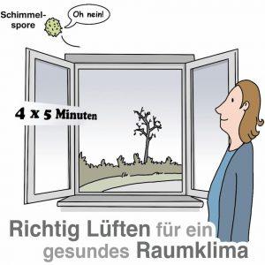 Fenster weit öffnen statt auf Kipp