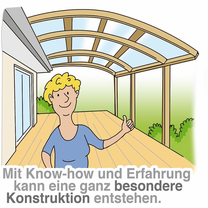 Terrassendach: Mit Erfahrung und Know-how selber bauen