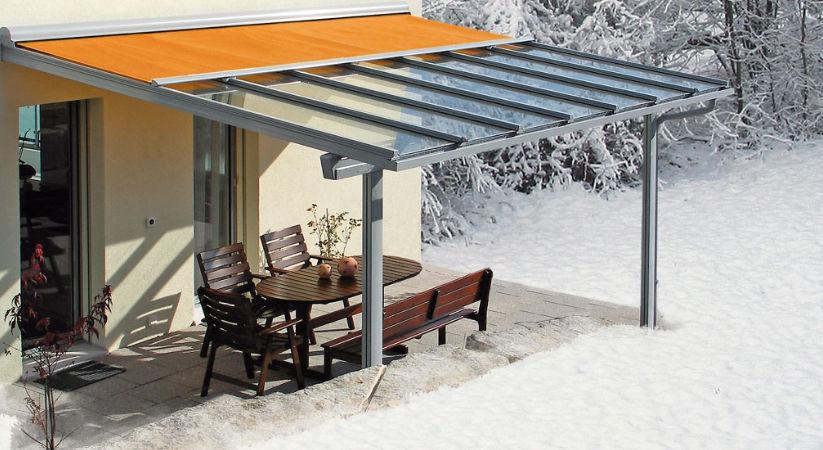 Terassendach im Winter © Holzbau Frammelsberger G. GmbH