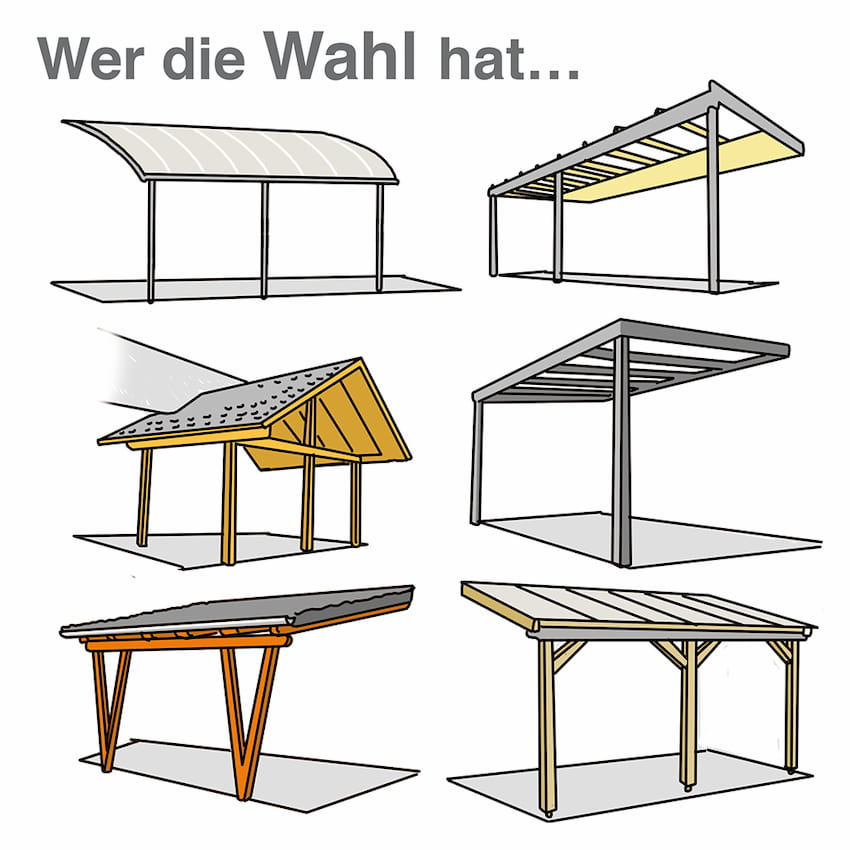 Terrassendach: Es gibt viele mögliche Ausführungen