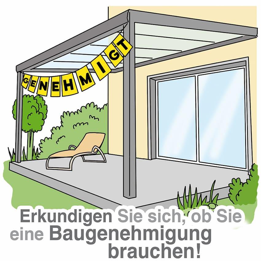 Terrassendach: Erkundigen Sie sich ob Sie eine Baugenehmigung brauchen