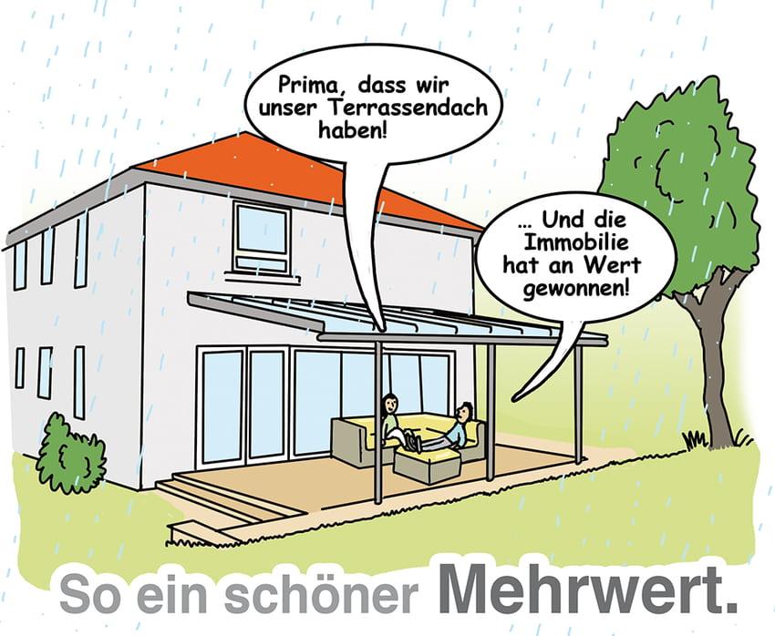 Terrassendach: Ein schöner und praktischer Mehrwert