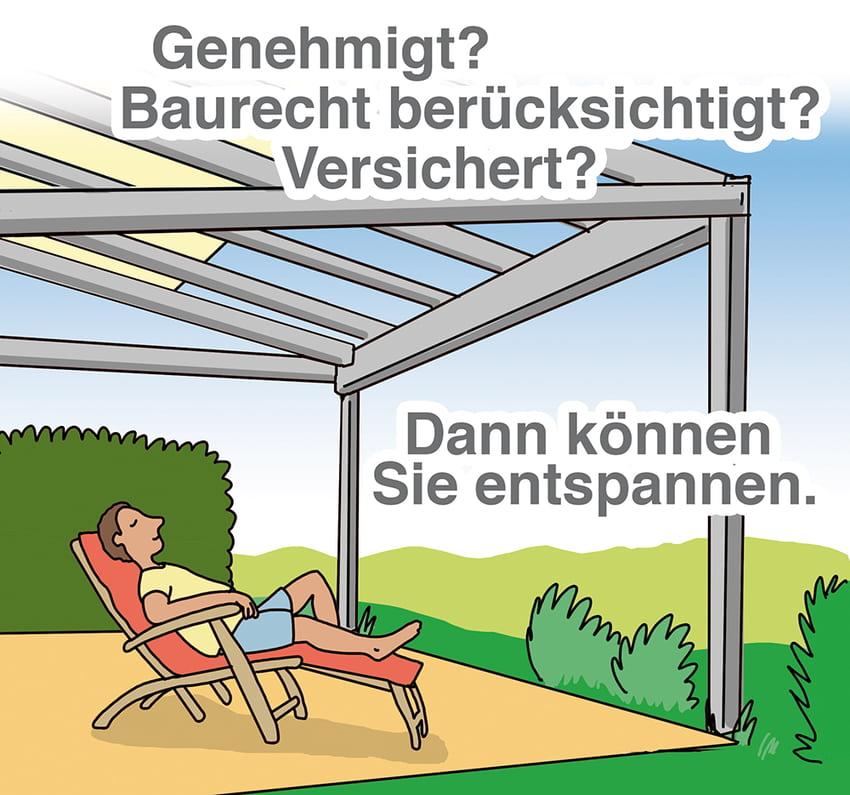 Terrassendach: rechtliche Fragen vorab klären