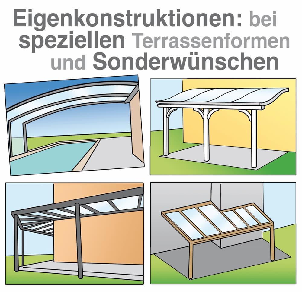 Eigenkonstruktion bei speziellen Terrassenformen und Sonderwünschen