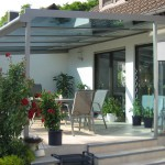 Terrassendach Materialien