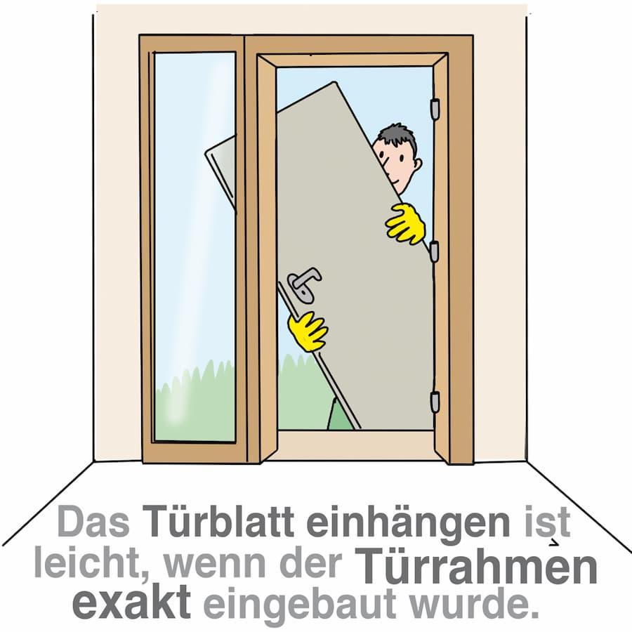 Der Türrahmen muss exakt eingebaut werden