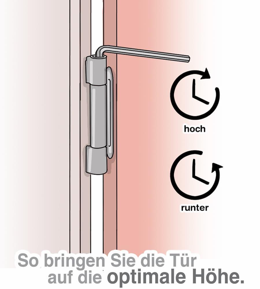 Haustür richtig einstellen: Kein Klemmen, Quietschen und ...