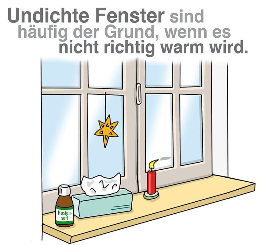 Undichte Fenster sind häufige der Grund wenn es nicht richtig warm wird