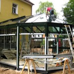 Bauzeit für den Wintergarten