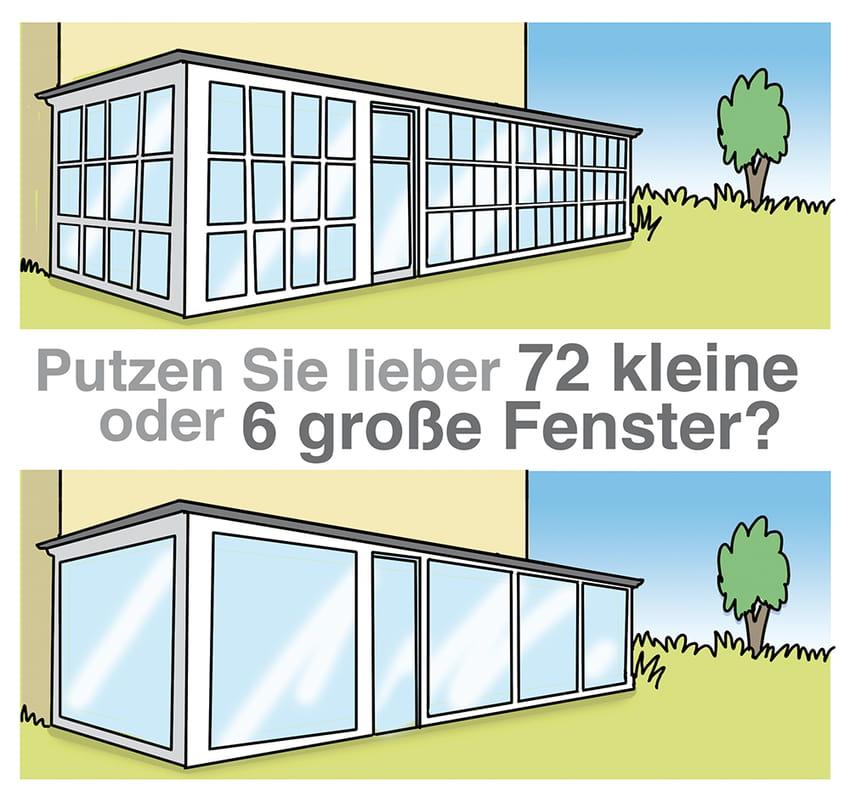 Wintergarten: Bereits bei der Planung an den Pflegeaufwand denken