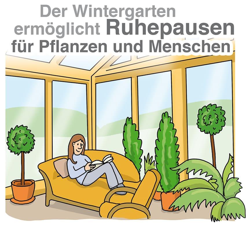 Ein Winrergarten ermöglicht Ruhepausen für Pflanzen und Menschen